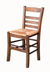 Rino Sandalye - Sabit Ahşap Sandalye - Rino Hasır