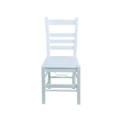 Rino Sandalye - Sabit Ahşap Sandalye - Rino - Beyaz