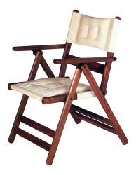 Atina Minderli - Katlanır Ahşap Sandalye - Atina Minderlli - Ceviz