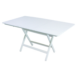 Atina Katlanır Masa - Katlanır Ahşap Masa - Atina 80x140 Beyaz