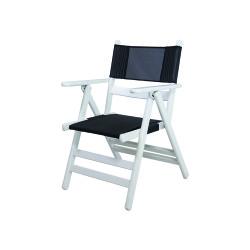 Atina PVC - Katlanır Ahşap Sandalye - Atina PVC Beyaz