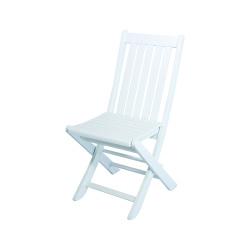 Acropol Sandalye - Katlanır Ahşap Sandalye - Acropol Beyaz