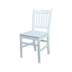 Rino Sandalye - Sabit Ahşap Sandalye - Hisar- Beyaz